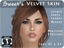 Sweet's Velvet Skin for Classic Avatar - Tone 02 & 03 (medium)