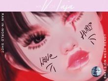!hn! // love hurts face tattoo