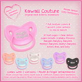 Kawaii Couture Bento Binky Pacifier - Plastic