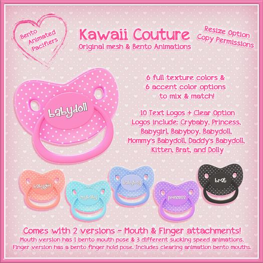 Kawaii Couture Bento Binky Pacifier - Polka dot