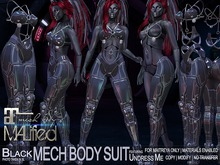 MALified: Undress-Me Mech Body Suit (Black): Maitreya Only