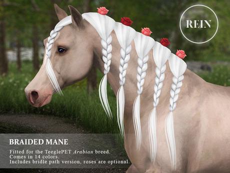 REIN - TeeglePet Braided Mane ARABIAN