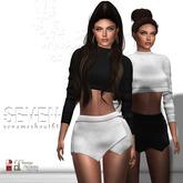 SEVEN - YENA mesh OUTFIT (black - white)