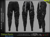 DAKARI MALE BLACK SINGLE COLOR PANTS , MESH - SIGNATURE GIANNI, LEGACY, BELLEZA JAKE - FashionNatic