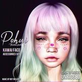 #POHUI - Kawai face accessorise set
