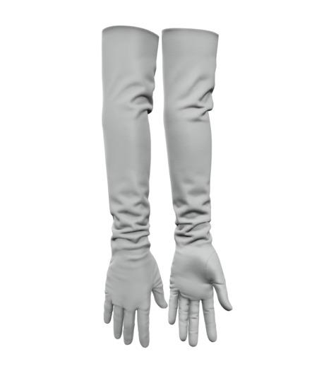 Wuzan - Leather Gloves - White