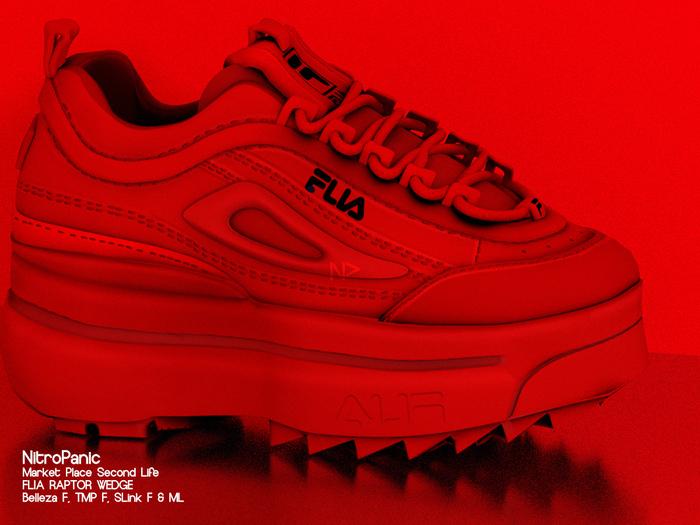 NPV_FLIA RAPTOR WEDGE Red
