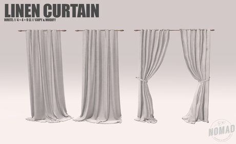 NOMAD // WHITE LINEN CURTAINS