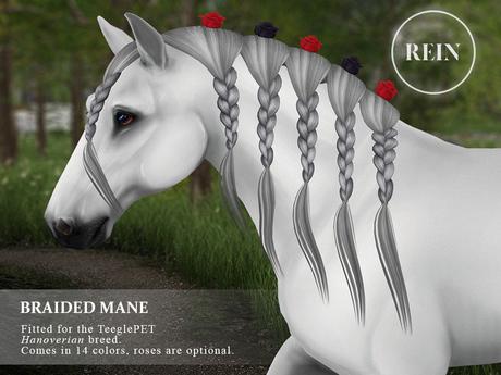 REIN - TeeglePet Braided Mane HANOVERIAN
