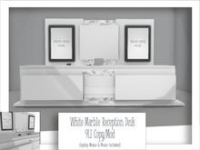White Marble reception desk