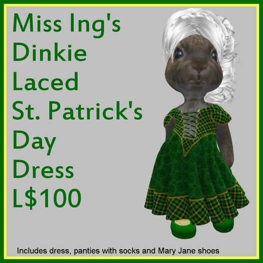 Miss Ing's Dinkie Laced St Pat's Day Dress 2020 Boxed