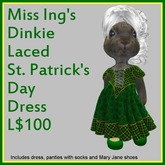 Miss Ing's Dinkie Laced St Pat's Day Dress