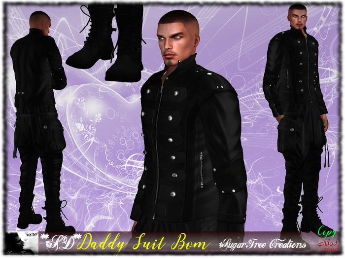 **SD**Daddy Suit Man Outfit Black Master (BOM Version)