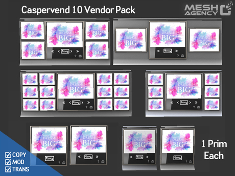 ::MA:: Caspervend Vendor 10 PACK - 1 Prim ONLY