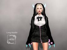 AMERIE - Long Hoodie(DEVIL)