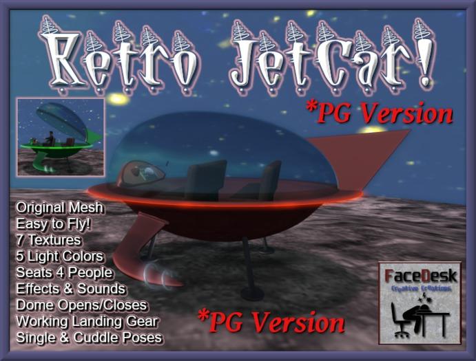 FaceDesk - Retro JetCar *PG* Spaceship, UFO, Flying Car