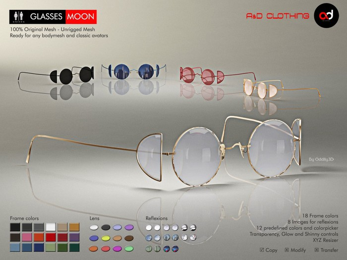 A&D Clothing - Glasses -Moon-  Deluxe