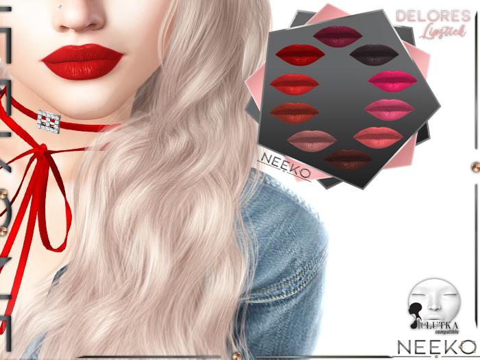 =NK= Delores Matte LELUTKA Origins Lipstick HUD
