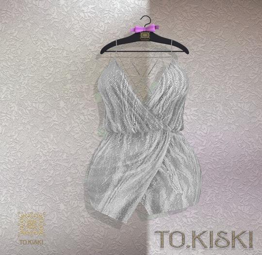 TO.KISKI - Aria cocktail dress / Silver (Add)