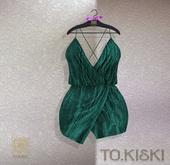 TO.KISKI - Aria cocktail dress / AQUA (Add)
