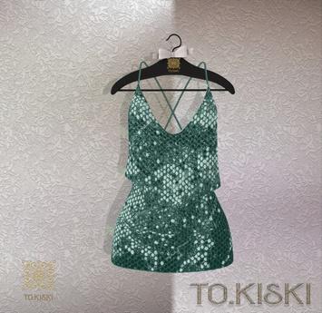 TO.KISKI - Glitter Sweet dress /Aqua (Add)