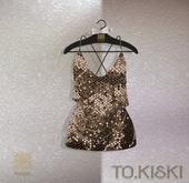 TO.KISKI - Glitter Sweet dress /Gold (Add)