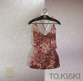 TO.KISKI - Glitter Sweet dress / Salmon (Add)