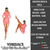 VERSACI - SWEATER DRESS & HEELS - MESH BODIES - JAN 2020