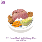 DFS Corned Beef And Cabbage Plate