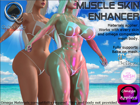 Supernatural Muscle Skin Material Enhancer - Works with every skin - Bake on mesh enabled