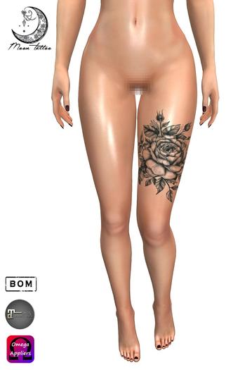 *Moon Tattoo* The Rose
