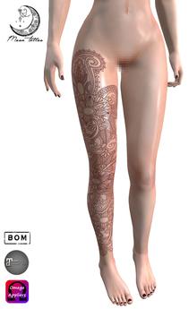 *Moon Tattoo* Henna Leg II