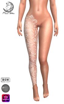 *MOON TATTOO* Henna Leg White