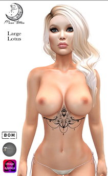 *MOON TATTOO* Large Lotus UB