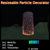 Resizeable particle decorator boxed