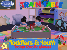 [Killi's] Ainamted Train Play Table - Toddlers & Youth