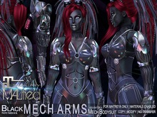 MALified: Mech Arms (Black): Maitreya Only