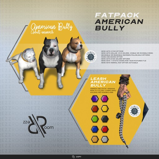 [Rezz Room] American Bully Adult  FATPACK