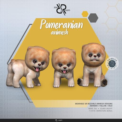 [Rezz Room] Pomeranian Animesh (Companion)