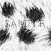 Zoy Texture [ Furry Fur ] Seamless - Clear White and Black