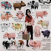 Schadenfreude Porktia the Boar Piglet Wiglet