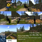 Horse trail Hills with Landscape & animated wildlife-box
