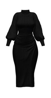 *Just BECAUSE* Adalynne Dress - 23Black - Maitreya, Belleza, Slink, Legacy