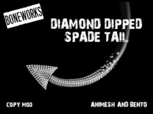 !Boneworks! > Diamond Dipped Spade Tail (boxed)