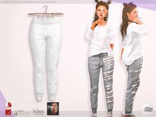 ASO! Sweat Pants (white) - Slink / Maitreya / Belleza / Legacy