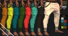 MCM - Baggy Pants with Greek AESTHETIC
