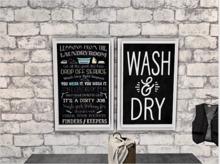 Laundry Chalk Board Art