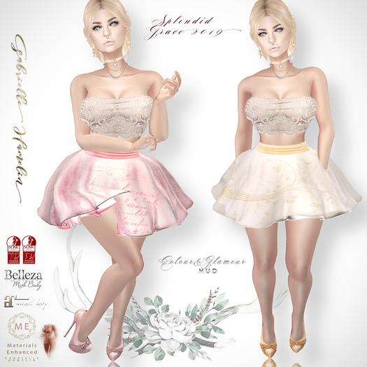 ♥.::GH::.♥ Splendid Grace 2019 - Tulle Chiffon Skirt