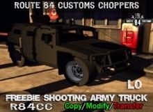 *.* OCC *.* Freebie Shooting Army Truck Boxed