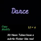 Dance 3D Neon no frame - box